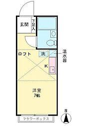 レジデンスジュリ[2階]の間取り
