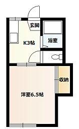 桜コーポA[110号室]の間取り
