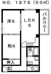 レジデンストーア[4階]の間取り