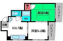 エクセレントII都島山崎[4階]の間取り