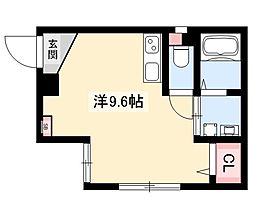 ARK岩塚駅南 B棟 4階ワンルームの間取り