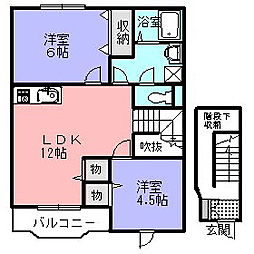 MEDLLA[2階]の間取り