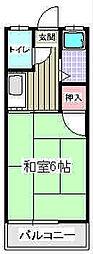 福岡県福岡市南区向新町2丁目の賃貸アパートの間取り