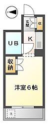 愛知県清須市西枇杷島町二見の賃貸マンションの間取り