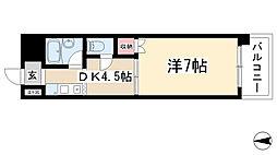 愛知県名古屋市名東区大針2丁目の賃貸マンションの間取り