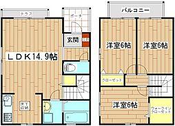 [テラスハウス] 大阪府茨木市庄2丁目 の賃貸【/】の間取り