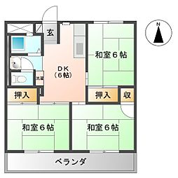 日新ビル[401号室号室]の間取り