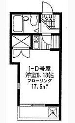 アベニール赤堤[1階]の間取り