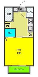JR東海道本線 藤枝駅 徒歩29分の賃貸アパート 1階1Kの間取り