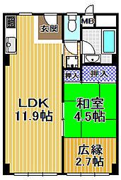 伝法団地2号棟[11階]の間取り