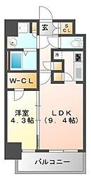 コンフォリア江坂広芝町[2階]の間取り