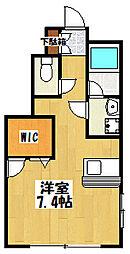 大阪府東大阪市西堤西の賃貸アパートの間取り