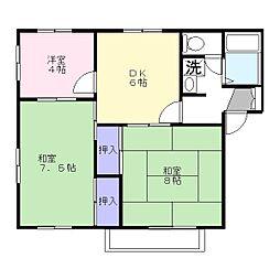 エクセルハイツ 103号室[1階]の間取り