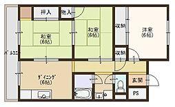 田中マンション[305号室]の間取り