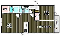 エーデル自由丘II[1階]の間取り