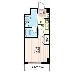 ラフィーネ湘南[4階]の間取り