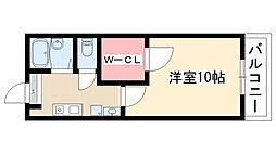 愛知県名古屋市瑞穂区中山町2丁目の賃貸マンションの間取り