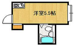 大阪府大阪市城東区関目2丁目の賃貸マンションの間取り