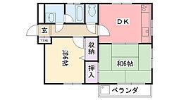 グランディア夙川2[201号室]の間取り