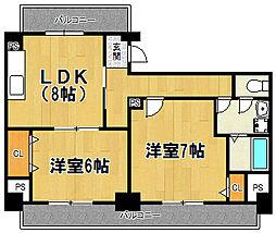 第2マンションローヤル[206号室]の間取り