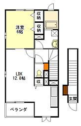 カームリーガーデン[2階]の間取り