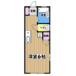 東京都昭島市田中町1丁目の賃貸アパートの間取り