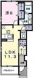 プラシードII[1階]の間取り
