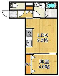 JR山陽本線 大久保駅 徒歩12分の賃貸アパート 1階1LDKの間取り