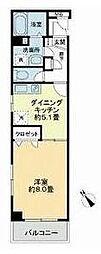フルール狛江[4階]の間取り