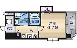 ラグゼドーム前II[6階]の間取り