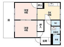福岡県北九州市八幡西区光明2丁目の賃貸アパートの間取り