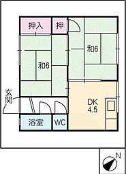 彦坂アパート[1階]の間取り