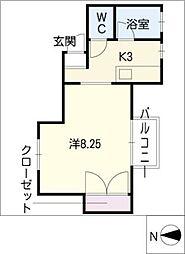 シングル吉川[1階]の間取り
