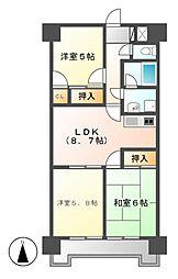 ジュフク松本[4階]の間取り