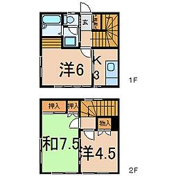 [テラスハウス] 福島県福島市宮代字下川原 の賃貸【/】の間取り