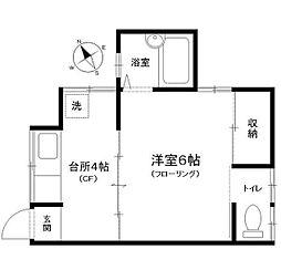 重田荘[1号室]の間取り