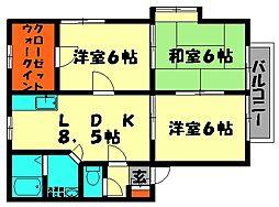 CORAZON井尻[1階]の間取り