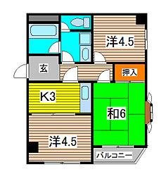 カーサ小島[2階]の間取り