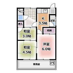 [一戸建] 愛知県北名古屋市沖村 の賃貸【/】の間取り