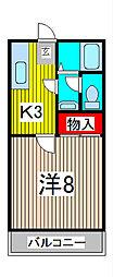 カオルハイツII[2階]の間取り