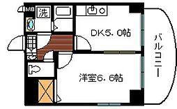 シャインローヤル[6階]の間取り