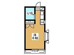 シティーハイツ拝島[1階]の間取り