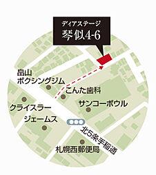 現地案内図(西...