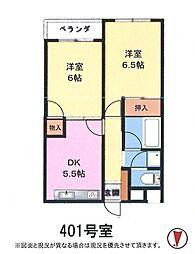 本郷第一マンション[401号室]の間取り