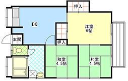 神奈川県相模原市中央区陽光台5丁目の賃貸アパートの間取り