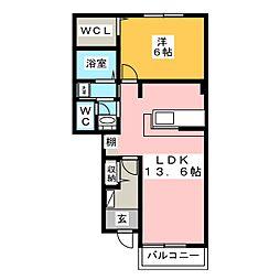 アルバ[1階]の間取り