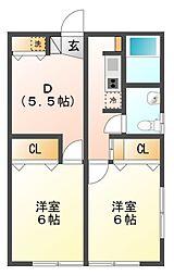 メゾン津田[1階]の間取り
