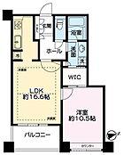 63m2超えの1LDKWICでとっても広いお部屋です。お台場・レインボーブリッジが望め眺望良好です