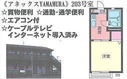 アネックスYAMAMURA[203号室号室]の間取り