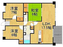 フィグツリー3号館[4階]の間取り
